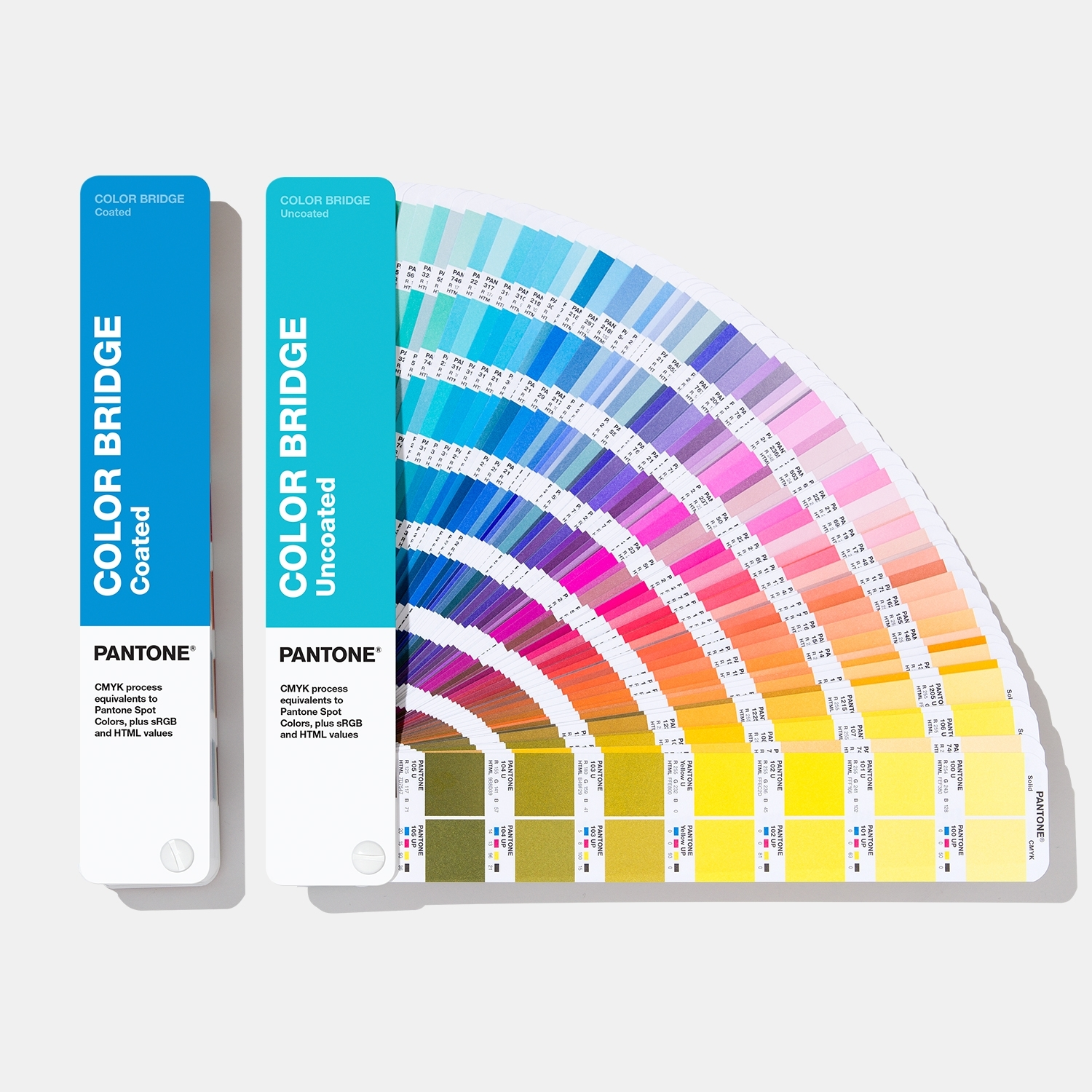 Pantone Color Bridge Guide Set | Coated & Uncoated Translate Pantone Colors into CMYK, HTML, RGB - View 1
