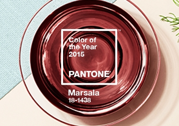 Color of the Year 2015: PANTONE 18-1438 Marsala