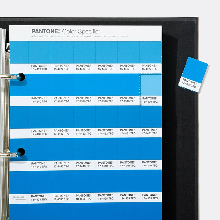 The FHI Color Specifier is a two-binder desk reference set with detachable paper color chips