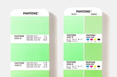 Solid color versus process color