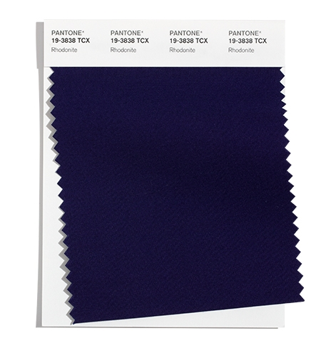 Pantone Cotton Swatch 19-3838 TCX