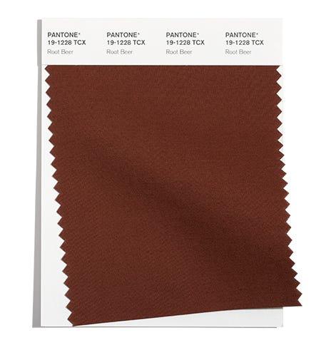 Pantone Cotton Swatch 19-1228 TCX