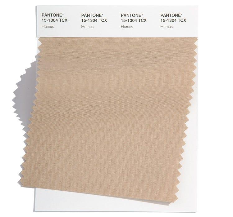 Pantone Cotton Swatch 15-1304 TCX