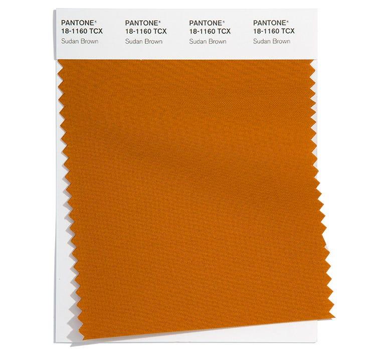 Pantone Cotton Swatch 18-1160 TCX