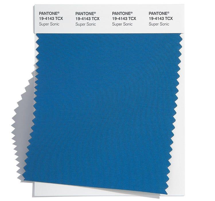 Pantone Cotton Swatch 18-4143 TCX