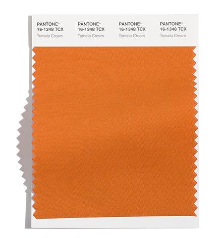 Pantone Cotton Swatch 16-1348 TCX