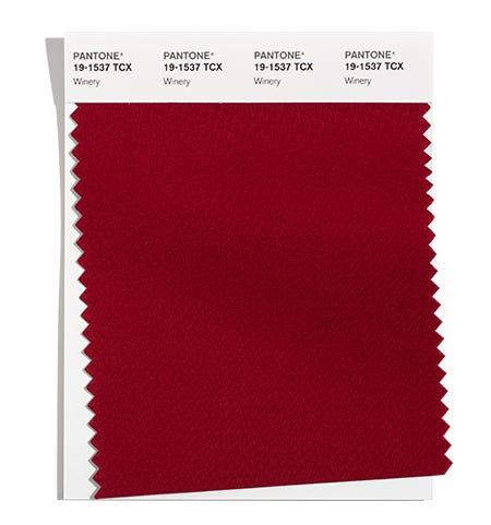 Pantone Cotton Swatch 19-1537 TCX