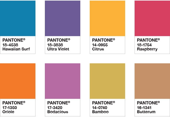 Color of the Year 2018 Color Chips