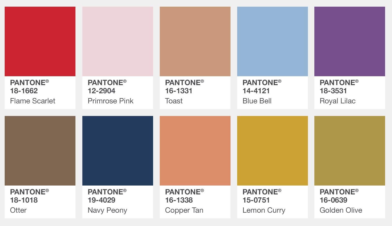 Fashion Color Trend Report Fall 2017 Pantone